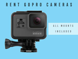 Rent GoPro 6 / 5 Black Cameras w/Mounts INCLUDED - Go Pro