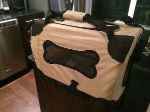 Pet carrier - soft sided crate