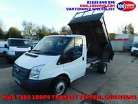 FORD TRANSIT 2.2TDCI 100PS MWB T350 TIPPER WITH LOVELY LOW MILES ONLY 48K