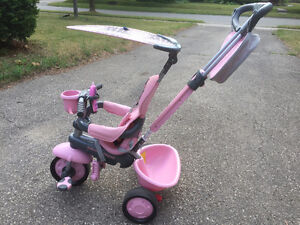 Smart Trike pink 3-in-1 tricycle