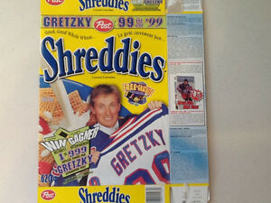 1999 Shreddies / Gretzky Hockey card box