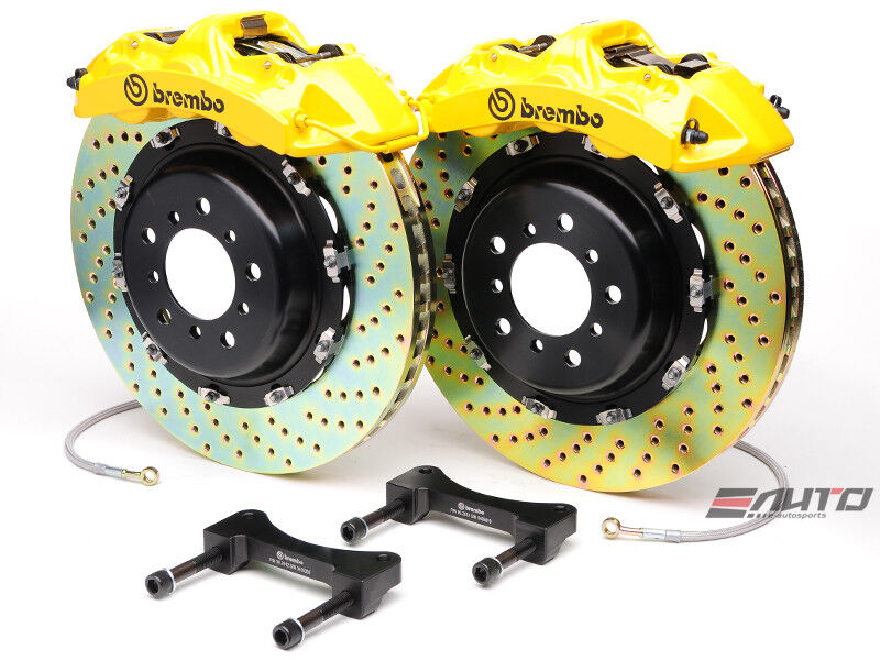 Brembo Front Gt Brake 6pot Yellow 380x32 Drill Disc Ls460 Ls460l Ls600h 07-13