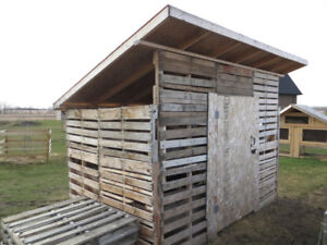 Shed built from Pallets