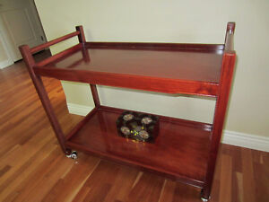 Rosewood Bar Cart / Serving Trolley / Entry Table