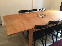 Fantastic extendable wooden table