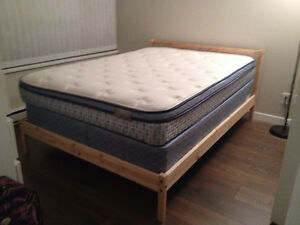 IKEA Double size bed frame with wooden slat base