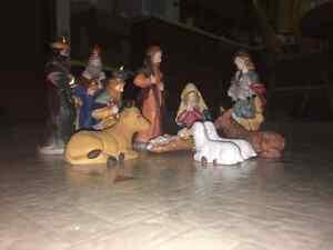 11 Piece Porcelain Nativity Set