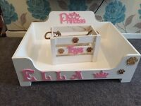Dog beds and toy boxes