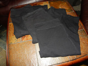 Set of 3 Black Capri's, Athletic Works Size XL