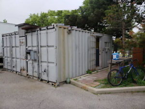 Revamped shipping containers – office and storage