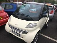 Smart Car Smart 0.6 Semi-Automatic 2002MY Pulse Low Insurance MOT