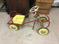 Vintage Old Metal Pedal Car - Working