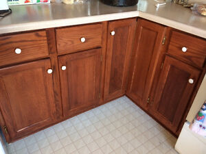 Solid Oak Wood Kitchen Cupboards