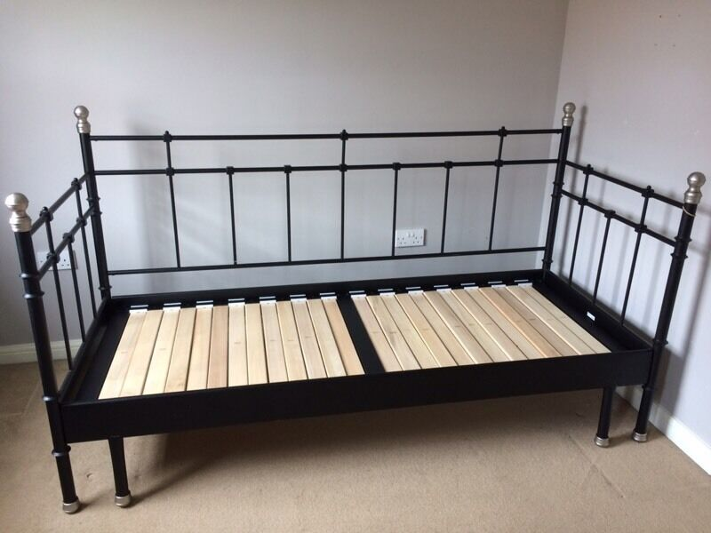 Ikea black day bed in bridgend gumtree - Black days ikea ...
