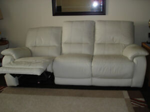 real electric lazy boy leather couch like new and chair $450.00