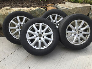 "Four 18"" Porsche Rims & Winter Tires for 2013 Cayenne or Audi Q5"