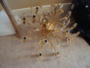 Beautiful Gold-Plated Chandelier