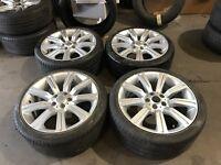 "20"" alloy wheels alloys Vw volkswagen transporter t5 land Range Rover 5x120 tyres"