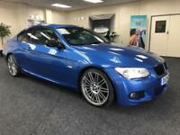2013 BMW 3 SERIES 320D M SPORT + ESTORIL BLUE + JUST ARRIVED INTO STOCK + COUPE