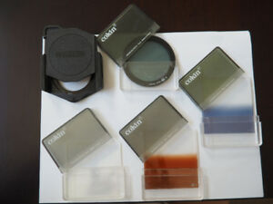 COKIN VINTAGE CROMOFILTERS & FILTER MOUNT - MADE IN FRANCE