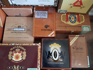 Over 25 cigar boxes - all shapes and sizes