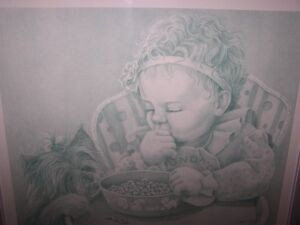 """""""SUNDAY SNACK"""" 160/220,SOLD OUT.LTD PRINT.BY GAIL ADAMS"""