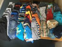 Huge bundle of Boys clothes and shoes size 2-4yrs
