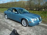 2005 JAGUAR S-TYPE 2.7D V6 SPORT AUTO (206 BHP) BLUE WITH CREAM LEATHER, AIRCON