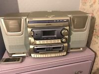 Goodmans hifi cd, tape player and remote