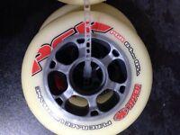 Inline skates wheels set of 8 brand new HYPER-PGR 84mm