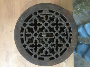 Round Cast Iron Floor Register Heat Grate