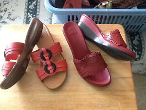 Assorted sandals and shoes