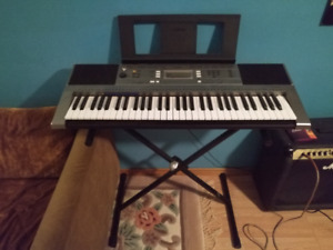 Yamaha Keyboard - Mint Condition With stand and adapter!