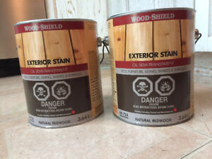 2 Unopened Cans Exterior Wood Stain -- Natural Redwood