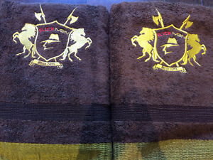 SLICKMEN BATH TOWELS BROWN