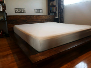 King/Queen size bed frame.