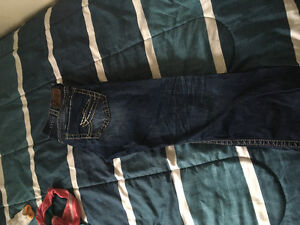 2 pairs of men's silver jeans size 34 by 32