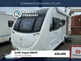Swift Vogue 590TD 2019 6 Berth Touring Caravan - Fixed Bunks - Motor Mover