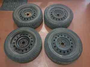 4 Winter Tires on rims (205/55/R16)