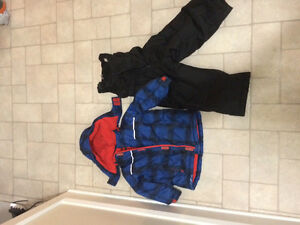 George 3T snow suit blue jacket with black lines and black pants