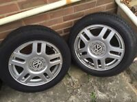 Set of 4 VW Montreal wheels and new tyres from MK4 golf gti