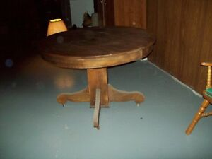round antique kitchen table