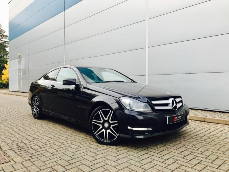 2012 62 mercedes benz c220 cdi amg sport plus coupe black black leather in watford. Black Bedroom Furniture Sets. Home Design Ideas