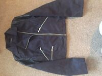 Ladies Black Faux Suede Biker Jacket (Boohoo)