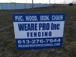 PVC Fence, Wood, Iron, Chain