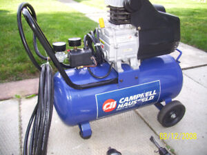 Cambell Hausfeld 8 Gallon compressor WITH  pneumatic with tools