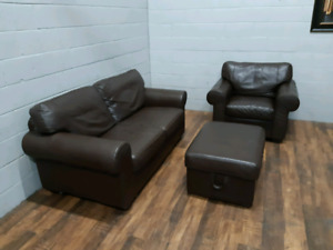 Free delivery: Real leather livingroom set
