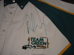 Paul Tracy Canadian Indy car driver signed pit crew shirt Windsor Region Ontario image 2