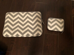 BRAND NEW approx 15-15.5 inch laptop sleeve and matching case