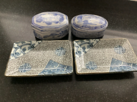 Blue and White Chinese Style Dishes